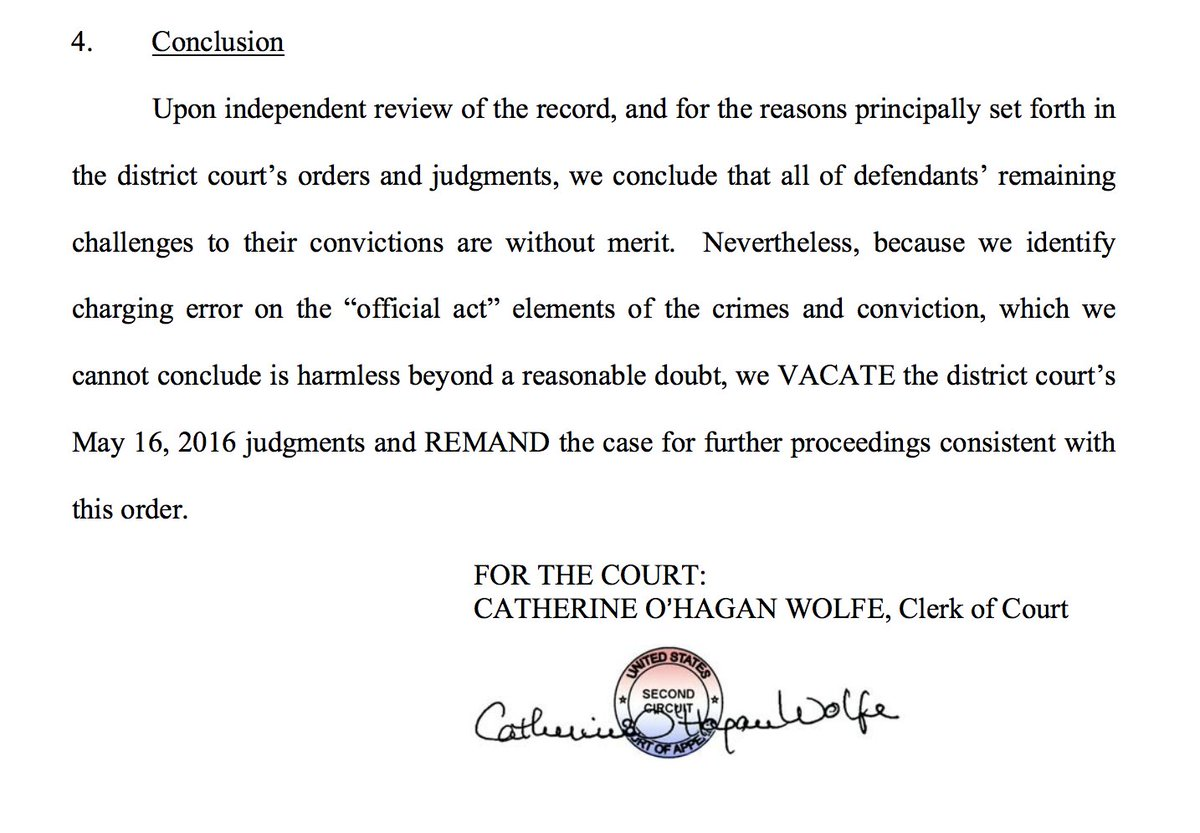 Overturning of Dean Skelos' conviction based entirely on Supreme Court...