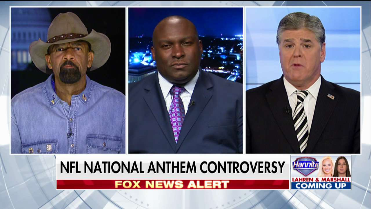 David Clarke on #NFL players protesting: 'They get paid to play, not to protest.' #Hannity https://t.co/6HJ9TCZ6O8