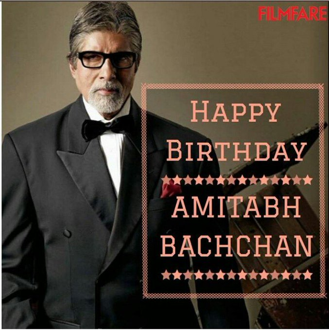 Happy birthday amitabh bachchan