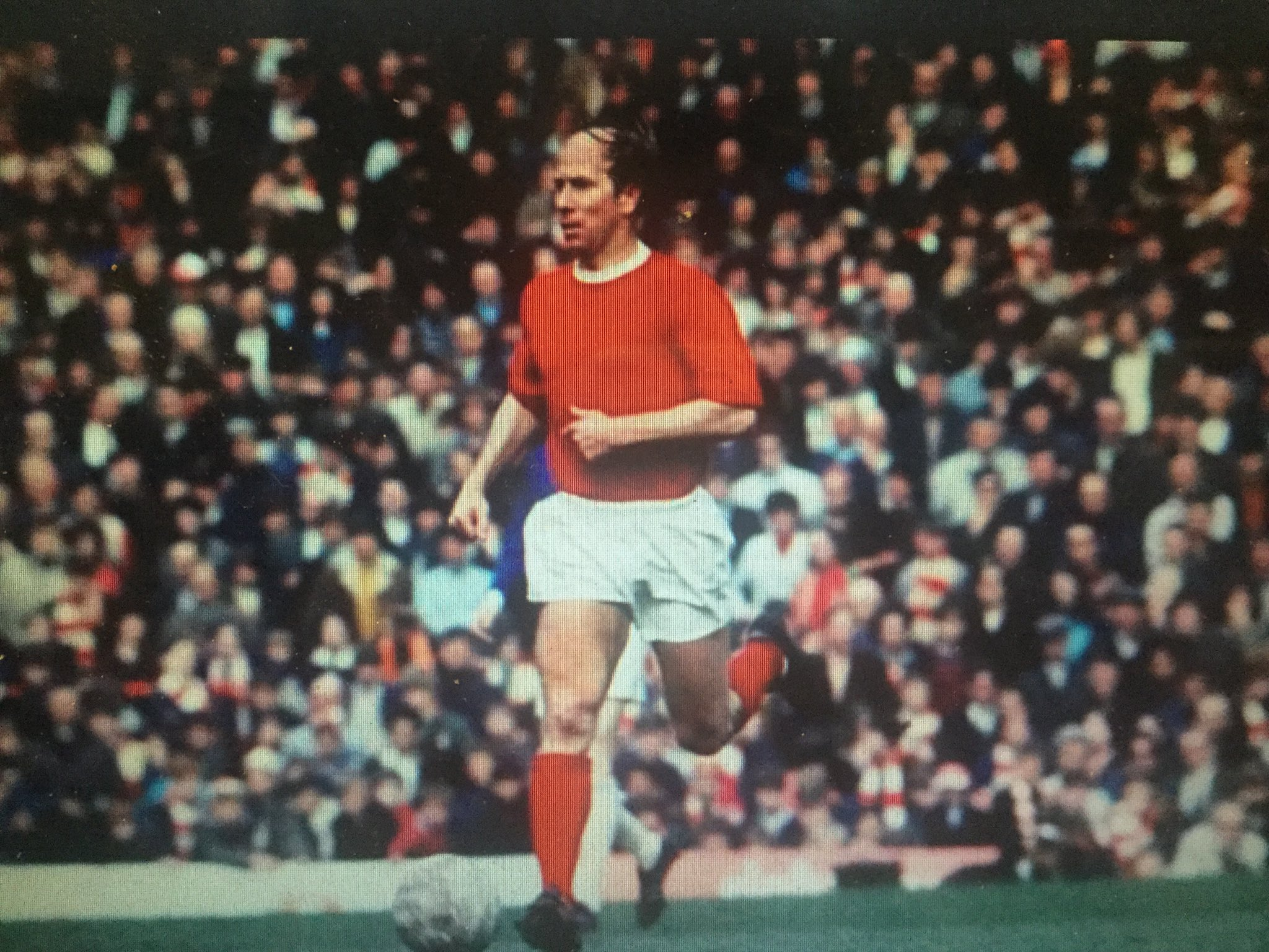 "Happy 80th Birthday Bobby Charlton! Coach told his team how to deal with United, ""Then there\s Charlton, Best & Law\"""