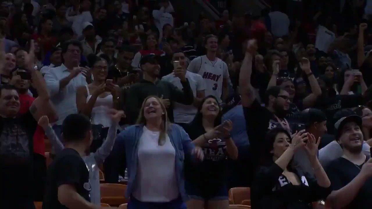 GAME WINNER!  The @nbagleague alum Jordan Mickey wins it for Miami!  @MiamiHEAT - 117 x @WashWizards 115 https://t.co/rZH67TEVRL