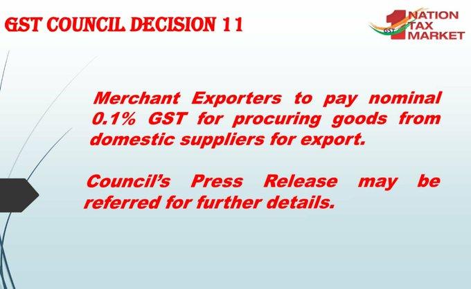GST Council Decision 11