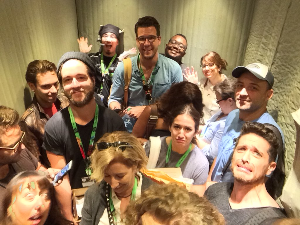 Stuck in the elevator at NYCC!!! Hope we make it in time for the panel! #VoltronLegendaryDefender #nycc2017 https://t.co/iZNa9Wc8H2