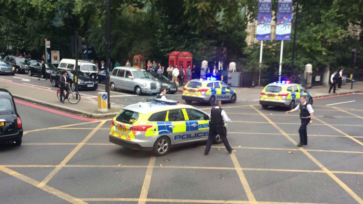The Latest: London Ambulance: 11 injured in museum car crash