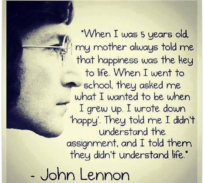 Happy Birthday John Lennon love this quote