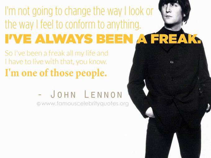 Happy birthday to one of our biggest influences, John Lennon.
