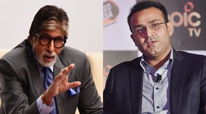 Virender Sehwag wishes the greatest superstar of our country Amitabh Bachchan a happy birthday - ...