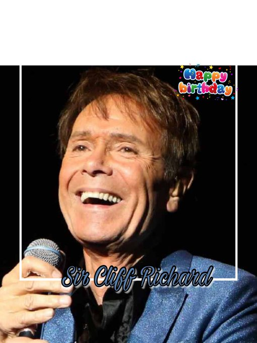 Happy Birthday to Sir Cliff Richard, Steve Coogan, Ben Whishaw, Justin Hayward, David Oakes & Shaznay Lewis