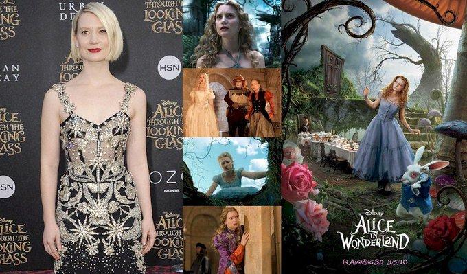 Hoy cumple 28 años Mia Wasikowska (Alice Kingsleigh en Happy Birthday