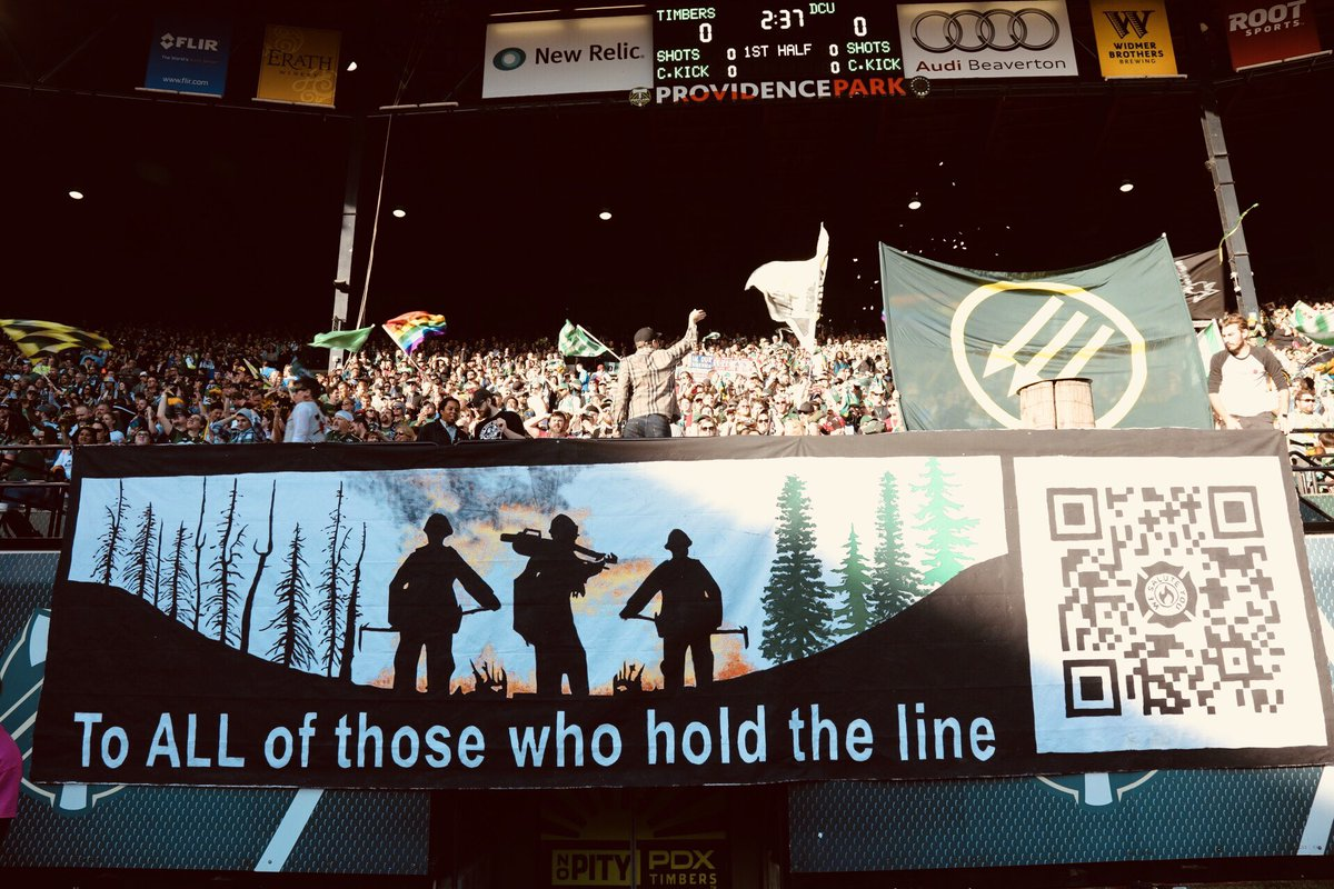 To ALL of those who hold the line: Beautiful tifo from @TimbersArmy. Hit the QR code to support OVFA. https://t.co/zoCTCJe9Td #RCTID #PORvDC https://t.co/2mwhdCuXws