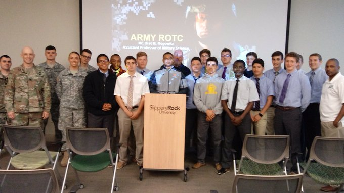 #Prep JROTC cadets on college visit to Slippery Rock University and Army ROTC. https://t.co/4o4VCczSDo