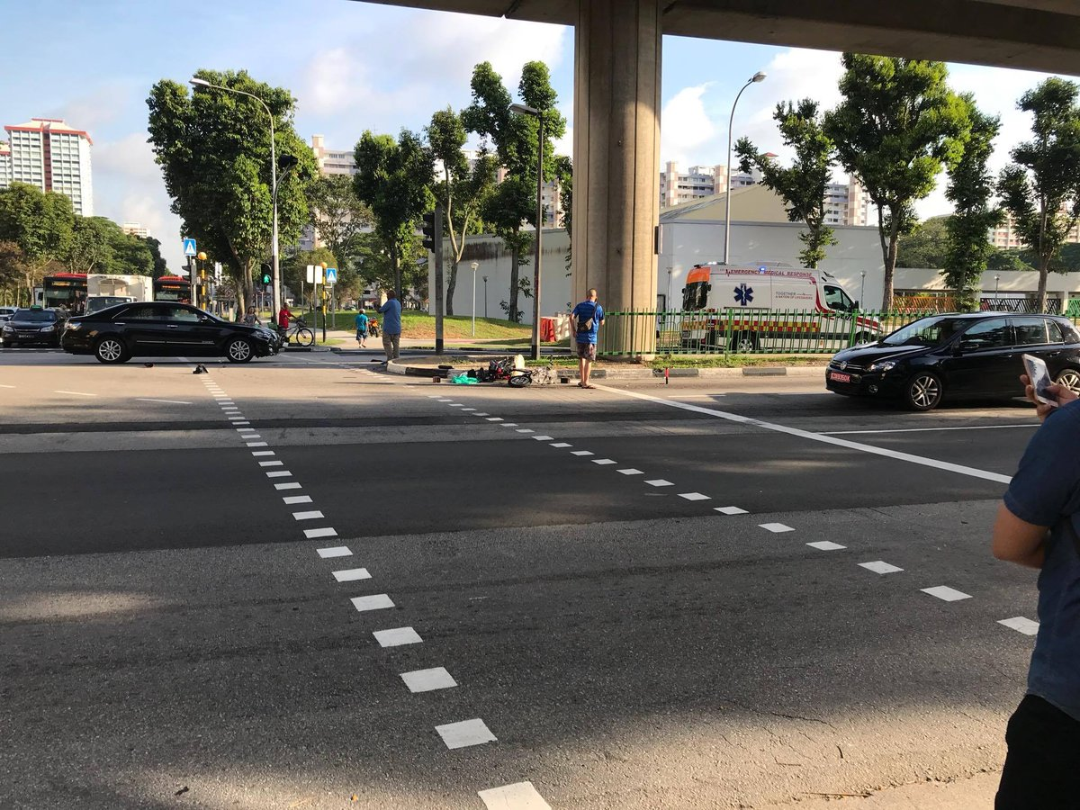 Elderly man on e-bike seriously injured after car crash along New Upper Changi Road