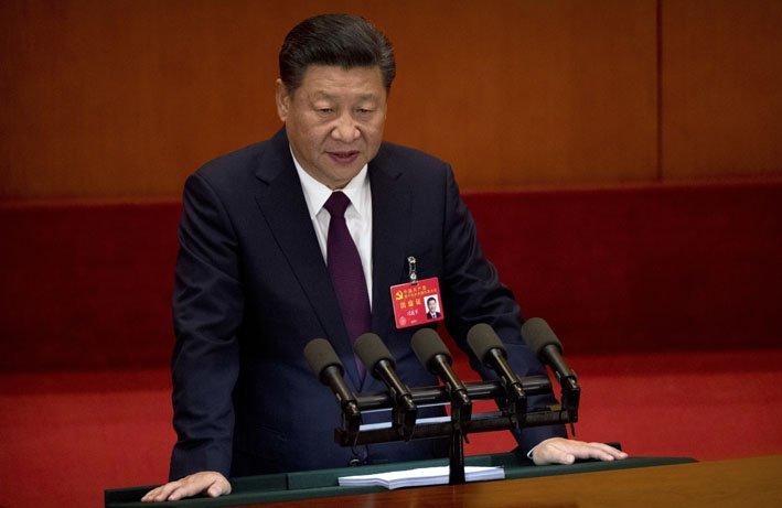 @BroadcastImagem: Xi Jinping, presidente da China, defende maior papel do governo na economia. Mark Schiefelbein/AP