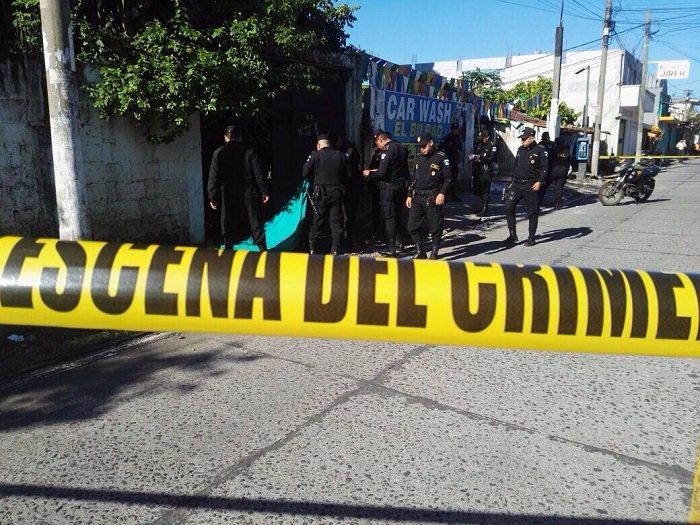 Asesinan a dos agentes de la PNC en Santa Lucia Cotzumalguapa