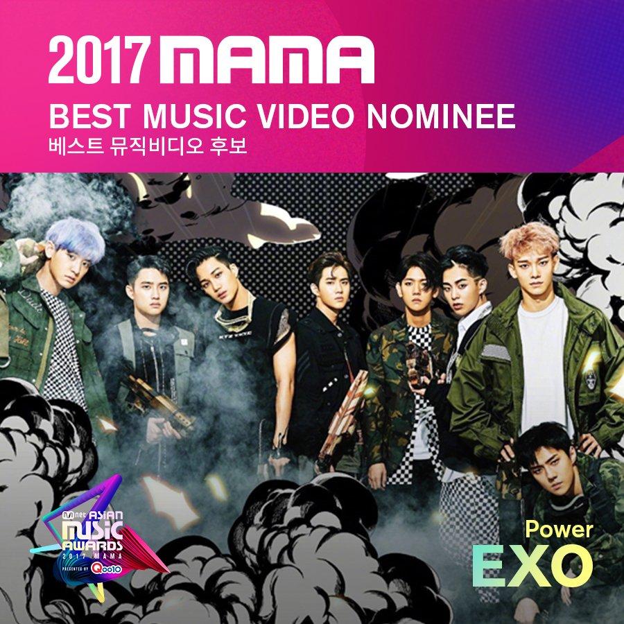 [#2017MAMA] Best Music Video Nominees #EXO #TWICE #WannaOne Vote▶ #Qoo10 #큐텐
