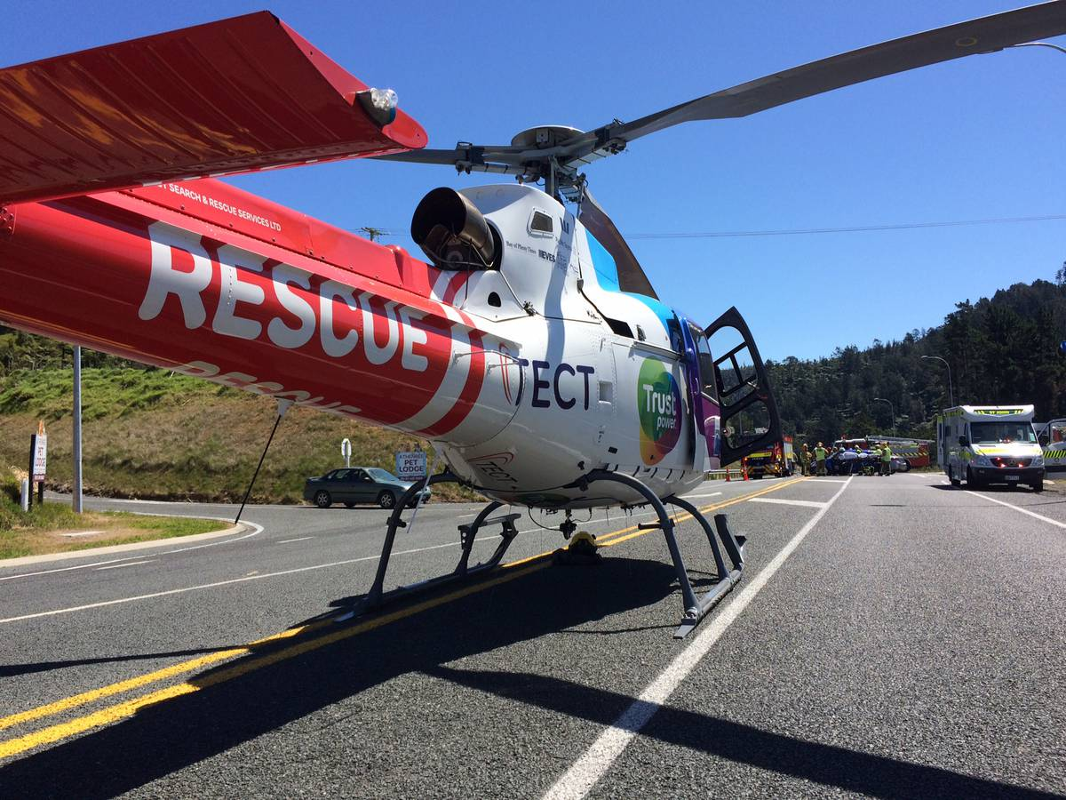 Rescue helicopter kept busy following crash