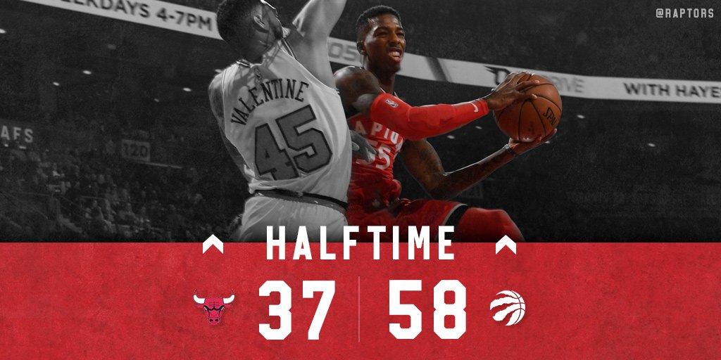 RT @Raptors: Now that was a solid half of basketball.   Box: https://t.co/zdrEcPmlrG https://t.co/7KJcP3zG7e