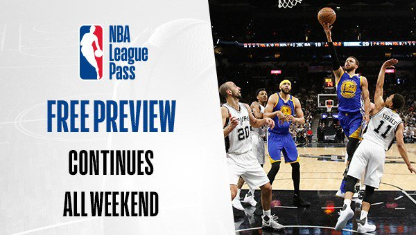 🚨 #LeaguePassAlert 🚨  The NBA LEAGUE PASS FREE PREVIEW continues all weekend! Sign Up: https://t.co/P54Xvr8Xhk https://t.co/Lz4y0eOEpp