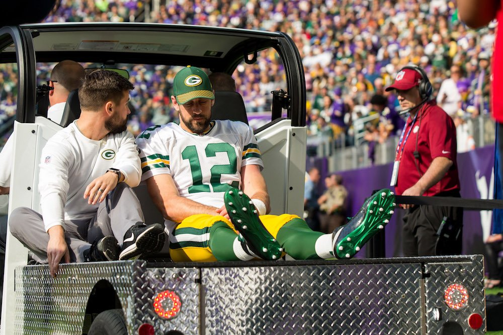 Aaron Rodgers may be able to resume throwing in six weeks, per @AdamSchefter