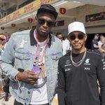 Usain Bolt et Bill Clinton sur la grille de départ à Austin