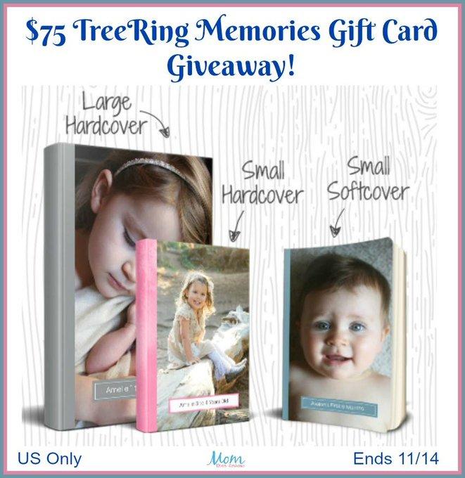 $75 TreeRing Memories Gift Card-1-US-Ends 11/14