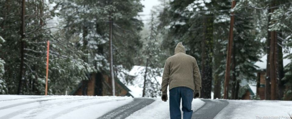 Snow, rain in California, but fire areas are dry