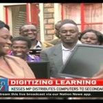 Kesses MP distributes computers to schools