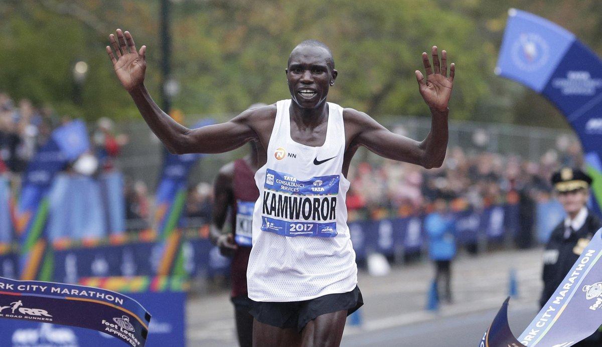Geoffrey Kamworor of Kenya wins men's New York City Marathon