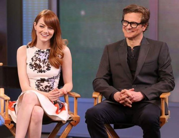 "COLIN FIRTH ADDICTED HAPPY BIRTHDAY ""EMMA STONE\"" ^^"