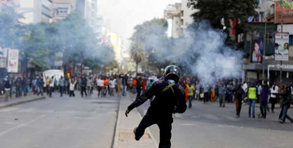 Kenya's divisive poll leaves one protester dead