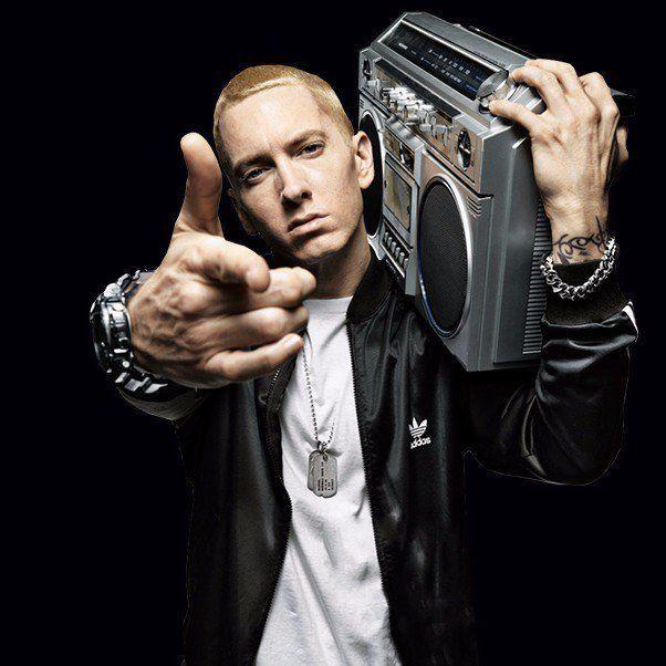 """Eminem. Foto do site da RD1 que mostra Eminem vence processo contra partido que usou música parecida com """"LoseYourself"""""""