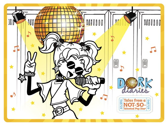 SQUEEE!! & print your FREE DorkDiaries November calendar  freebies printables