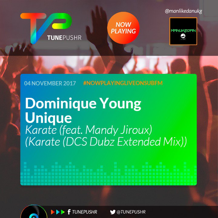 #NowPlaying Live on Sub.FM - Dominique Young Unique - Karate (feat. Mandy Jiroux) (Karate (DCS Dubz Extended Mix))… https://t.co/oZl2ginRPb