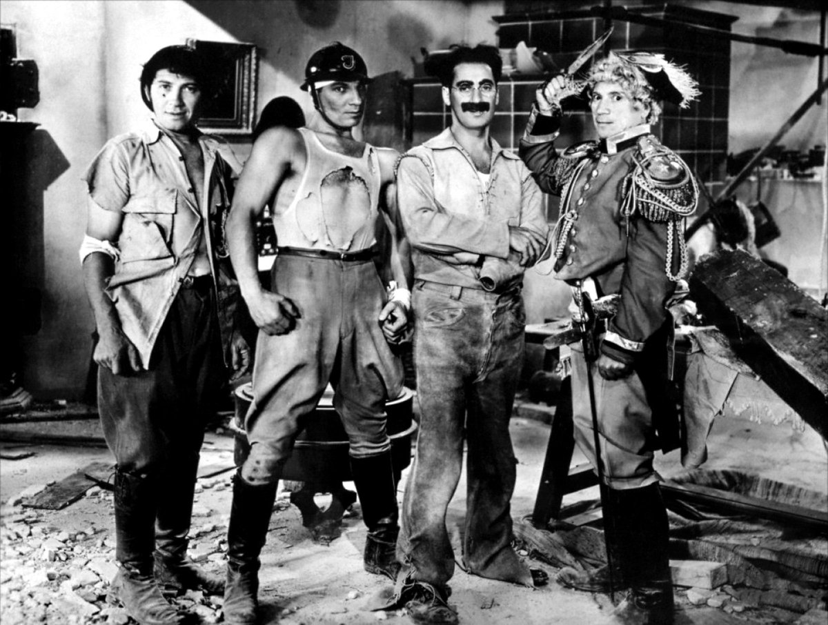 RT @SabotageFilms: The Marx Brothers' Duck Soup premiered #OnThisDay in 1931. #marxbrothers @MarxBrosQuote https://t.co/CgMmpN28zy