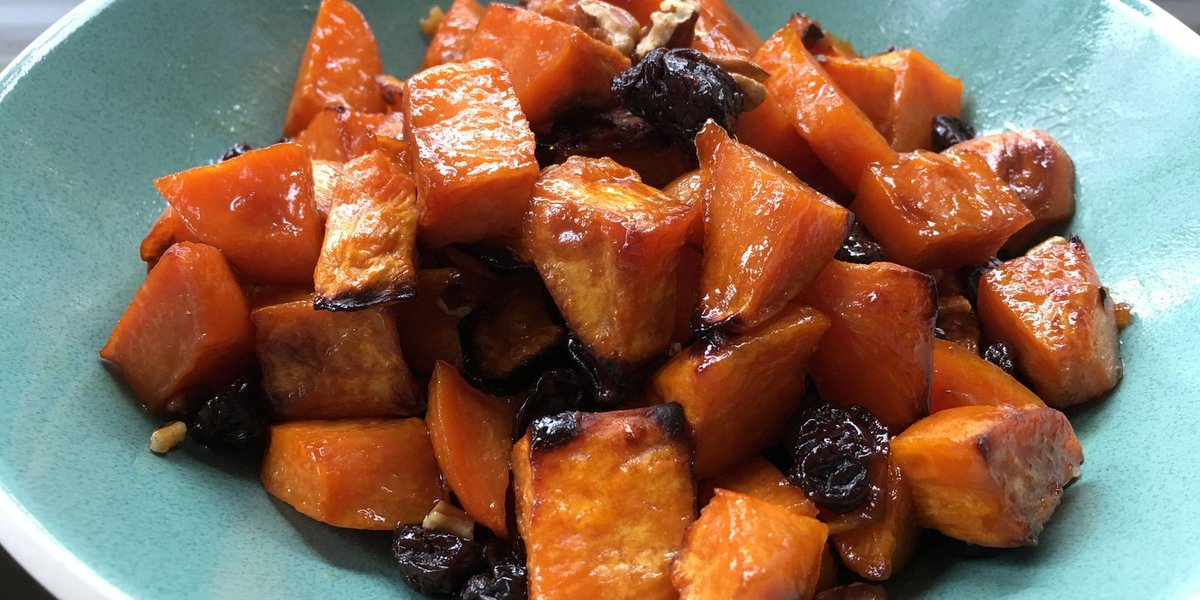 Roast sweet potatoes to intensify their sweetness