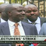 University dons stage demos, present petition to parliament