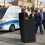 Self-driving shuttle bus in crash on first day