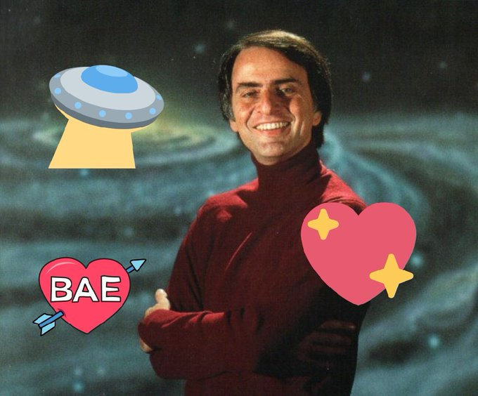 Happy birthday, Carl Sagan! So disappointed I couldn\t meet him. He\s with the aliens now