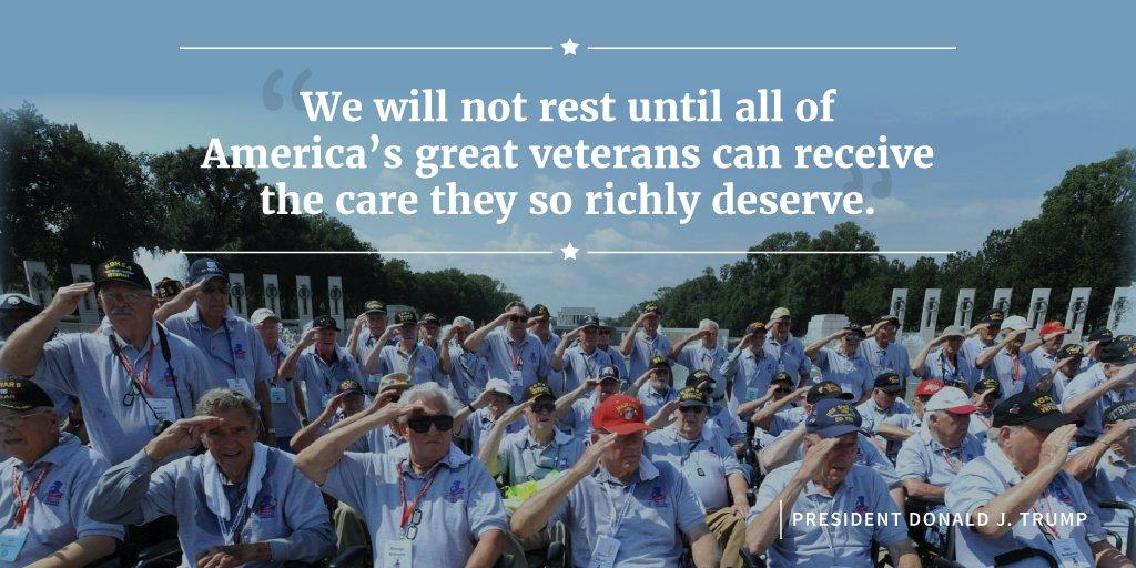 President Trump is putting our veterans FIRST. Read more: https://t.co/UM6TvTnsVF https://t.co/jhSIVtQ2o0