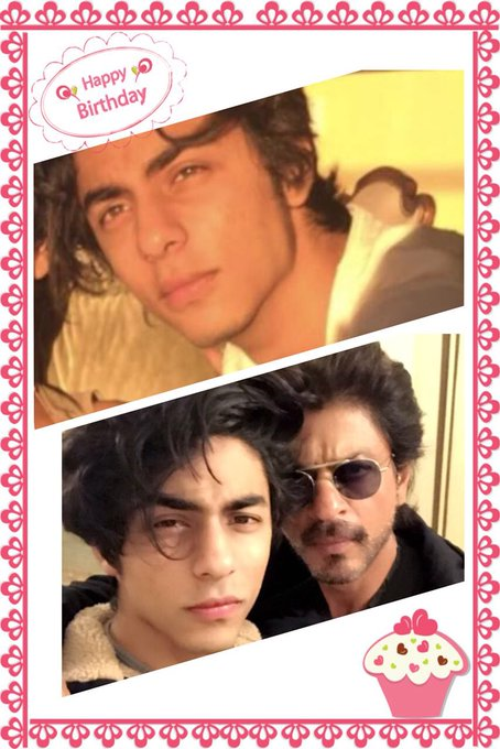 Happy Birthday Dear, Aryan khan May all ur wishes and dreams come true