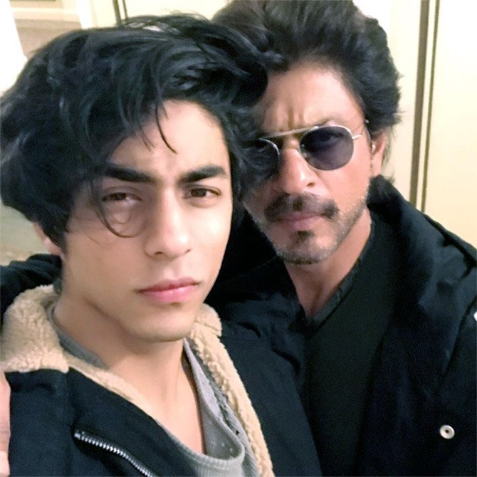 wishing a very happy birthday to ur prince, Aryan Khan. Like father, like son. Lotsa love