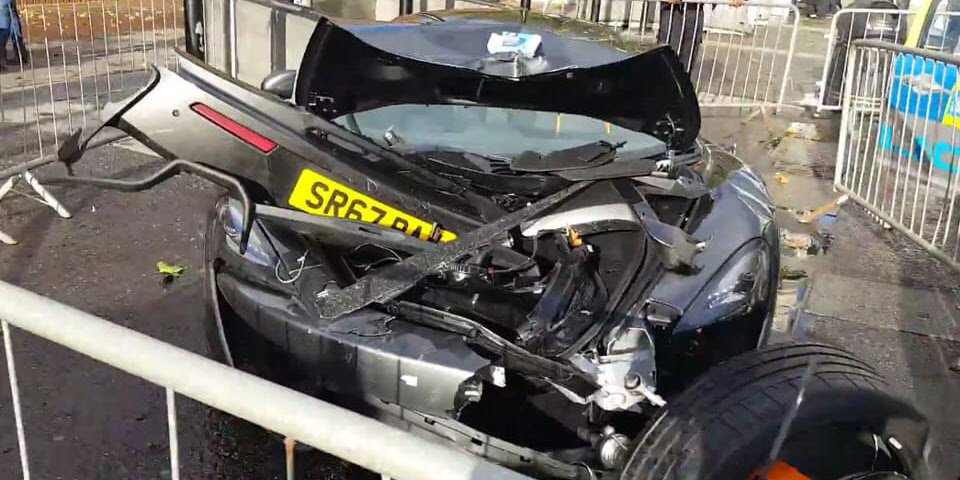 Aftermath Videos Of A Totaled McLaren 570S In London