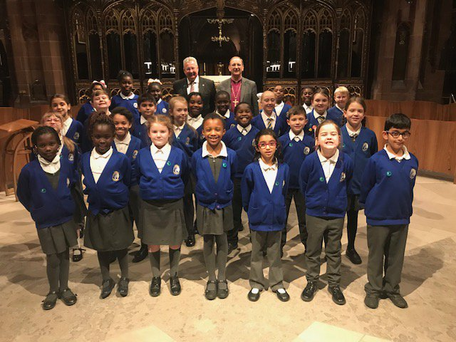 Our fantastic Choir from St James singing at the Manchester Cathedral last night. So proud of all of them. https://t.co/6XfyTGnMxi