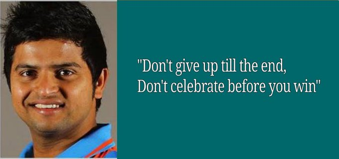 Happy birthday My all time fav SURESH RAINA.... your quotes made me very inspirational...
