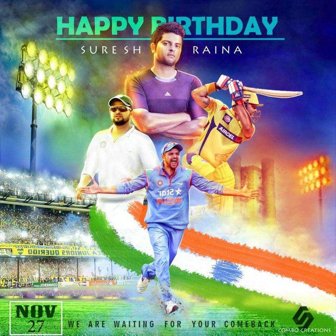 Happy birthday Suresh raina a comeback player for Indian team....
