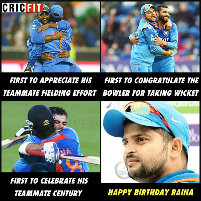 ..as a fan i only can expect a like nd reply from u..nd i know u r super honest..happy bday suresh raina