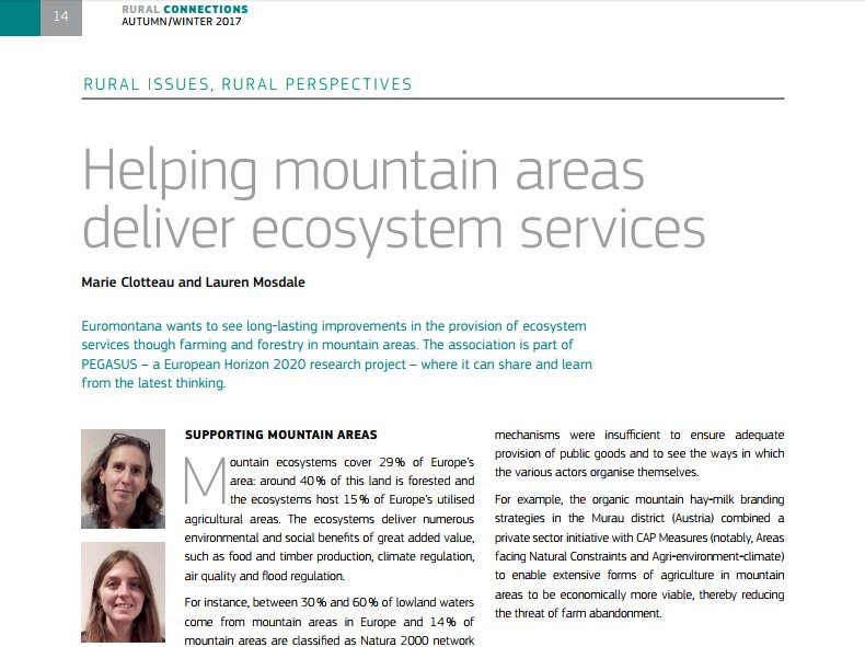 test Twitter Media - Euromontana presents how to help mountain areas deliver ecosystem services in Rural Connection, on behalf of the H2020 @PEGASUS_eu project.  Read the article and many others here : https://t.co/CzQddDfVja https://t.co/GfU9B9yerx