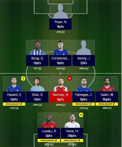 test Twitter Media - Sky Sports fantasy football. Morata out Hazard in and captain. OR 8,884 and 13 transfers used. Will replace Ramsey 2moro. Maybe for Ozil #fpl #skysportsfantasyfootball https://t.co/CHsx4fxL97