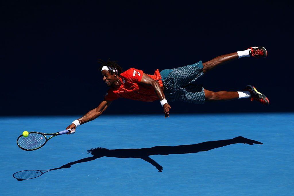 The #AusOpen is... where magic happens...  Levitation level �� @Gael_Monfils. https://t.co/eHOaSft2Lp