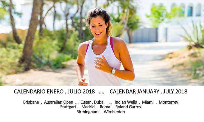 Calendario enero-julio 2018 Calendar January - July 2018  @WTA @AustralianOpen @rolandgarros @Wimbledon https://t.co/ch5TNsA7ux